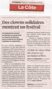 Des clowns solidaires montent un festival